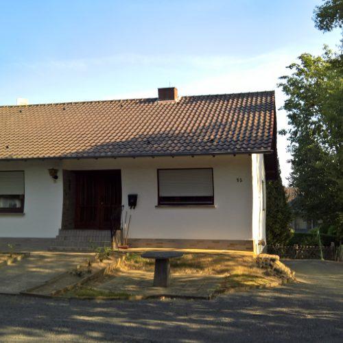 Das Baugrundstück in Hennef