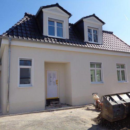 Außenputz für das Einfamilienhaus in Rösrath fertiggestellt