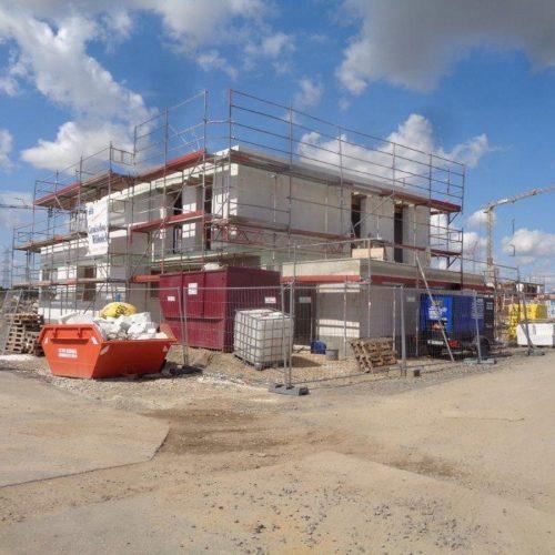 Bauhausstil in Pulheim: Der Rohbau ist fast fertig