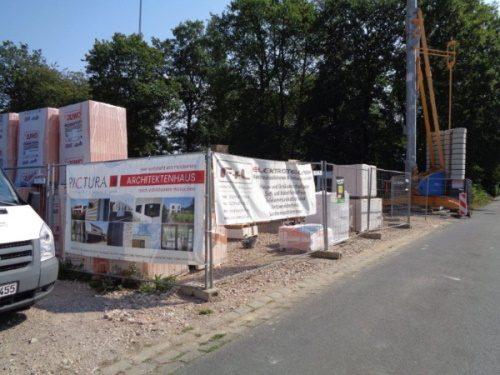 Rohbauarbeiten am Zweifamilienhaus in Hennef