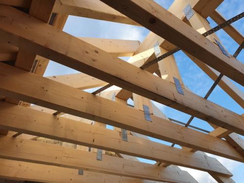 Neubau von PICTURA CREATIVHAUS in Bensberg: Dachstuhl