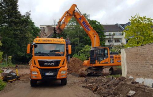 PICTURA CREATIVHAUS in Bonn: Tiefbauarbeiten für drei Stadthäuser