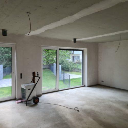 Neubau Wohnungen in Bonn: Estrichtrocknung