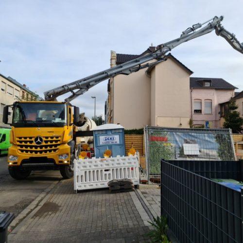 Neubau Wohnungen in Bonn: Betonlieferung