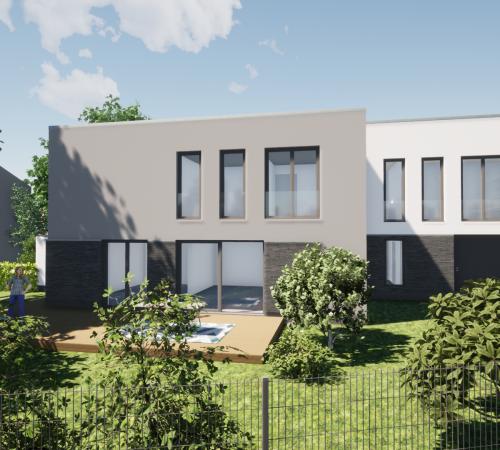 Zweifamilienhaus im Bauhausstil in Frankenforst
