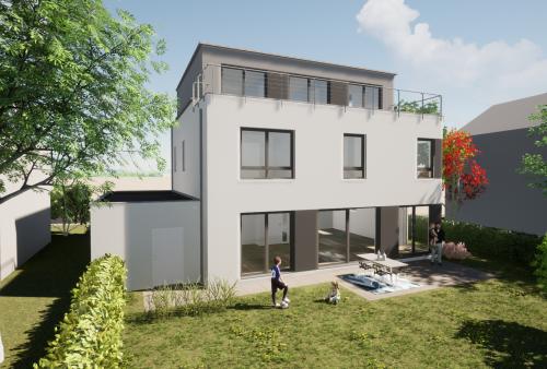 Neubau im Bauhausstil in Refrath